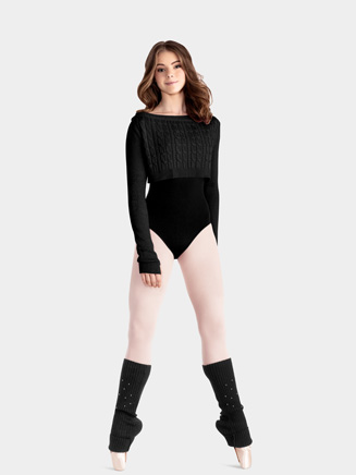 Mirella Adult Cable Knit Crop Sweater