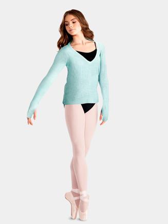 Mirella Adult V-Neck Open Back Knit Jumper