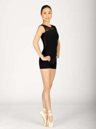 Adult Mesh Accented Shorty Unitard - Style No MAT89504