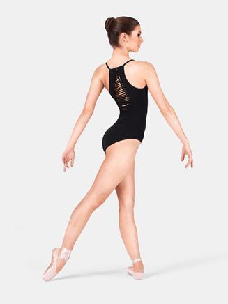Mirella Adult Jozette Shirred Back Camisole Dance Leotard