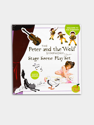Peter and the Wolf Stage Scene Play Set - Style No MPETERSC