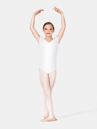 Child Cotton Blend Short Sleeve Leotard - Style No N5502C