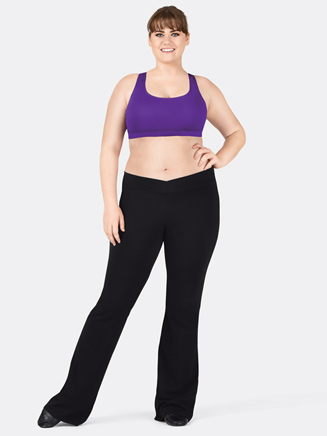 Adult Plus Size V-Front Jazz Pant - Style No N5504W