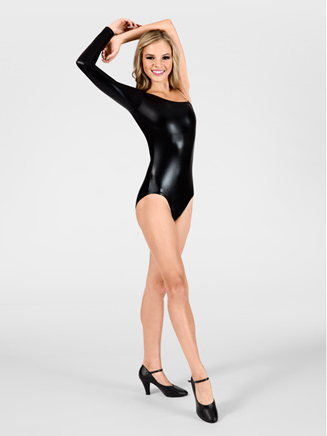 Adult Metallic Leotard with One Shoulder - Style No N7065