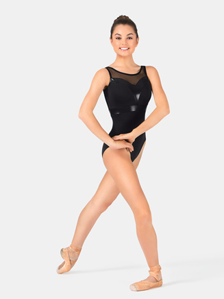 Adult Pleather Sweetheart Leotard - Style No N7206