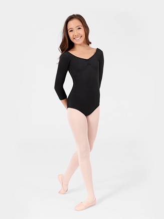 Adult 3/4 Sleeve Pinched Front Leotard - Style No N8105
