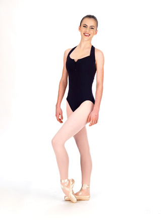 Adult Zipper Front Halter Dance Leotard - Style No N8143