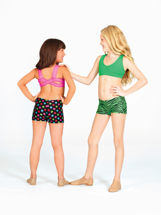 Child Printed Dance Short - Style No N8365PC