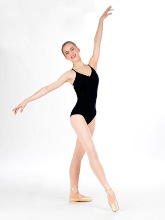 Natalie Adult V-Front Camisole Dance Leotard