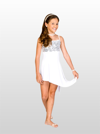 Child Asymmetrical Camisole Dress - Style No N8430C