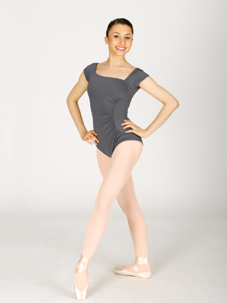 Cap Sleeve Leotard With Shirred Side - Style No N8562