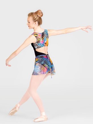 Printed Back Tank Leotard - Style No N8624