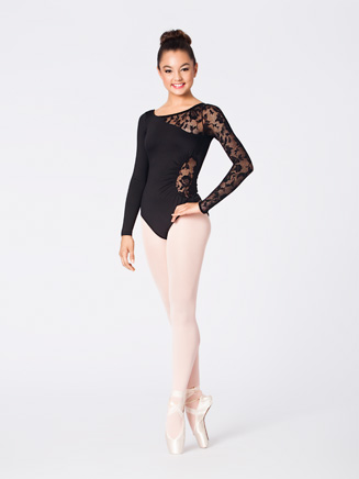 Lace Detail Long Sleeve Leotard - Style No N8650