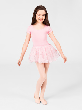 Natalie Child Pull-On Embroidered Skirt