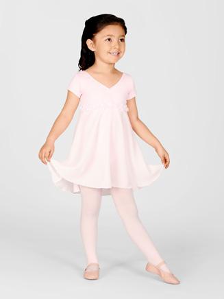 Natalie Child Empire Waist Short Sleeve Dance Dress