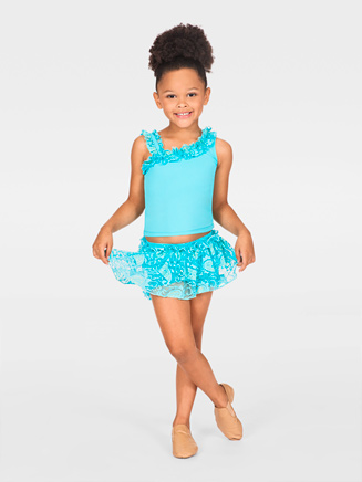 Natalie Child Skort with Lace Ruffles