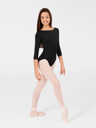 Adult High Cut 3/4 Sleeve Leotard - Style No N8726