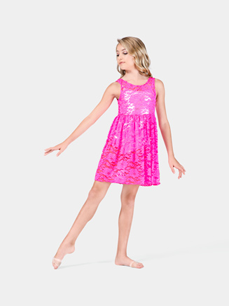 Girls Tank Lace Overdress - Style No N8772C