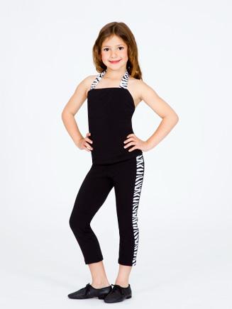 Natalie Child Zebra Halter Top