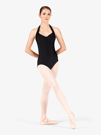 Adult Pinch Front Halter Dance Leotard - Style No N9001