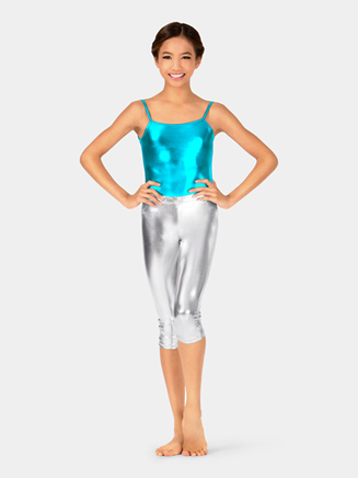 Girls Metallic Capri Leggings - Style No NF8454C