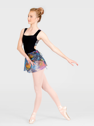Natalie Printed Wrap Skirt
