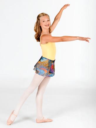 Natalie Child Printed Wrap Skirt
