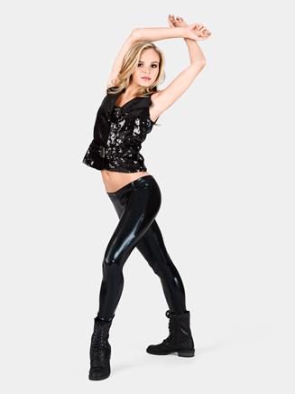 Metallic Ankle Leggings - Style No NF8469