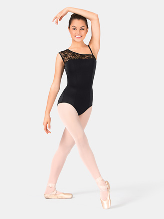 Adult Asymmetrical Lace Leotard - Style No P220