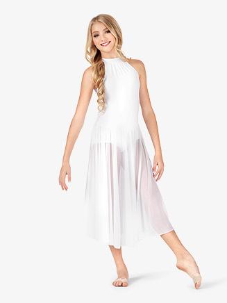 Body Wrappers Mock Turtleneck Adult Tank Dress