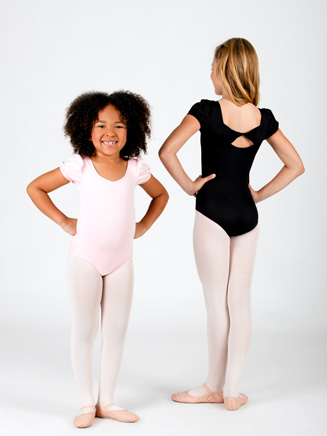 Child Twist Back Cap Sleeve Leotard - Style No PB207C
