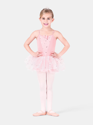 Child Camisole Dress with Glitter Overlay - Style No PB412C