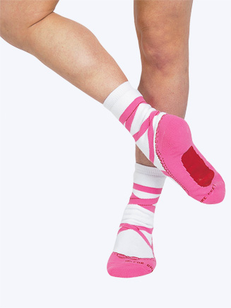 Adult Pointe Shoe Socks - Style No PS503