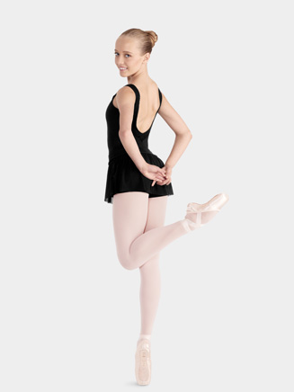 Bloch Adult Short with Sheer Skirt