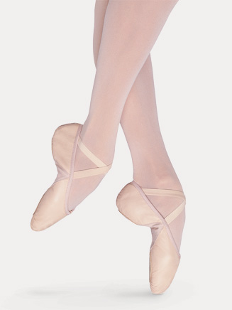 Child Split-Sole Leather Ballet Slipper - Style No S0203G