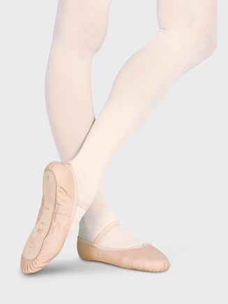 """Dansoft"" Toddle Full Sole Leather Ballet Slipper - Style No S0205T"