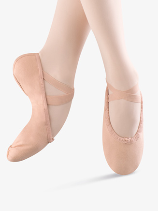 """Pump"" Child Split-Sole Canvas Ballet Slipper - Style No S0277G"