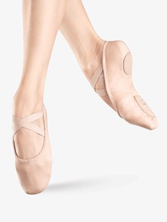 """""""Zenith"""" Adult Split-Sole Canvas Ballet Slipper - Style No S0282L"""