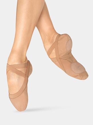 """""""Pro Elastic"""" Adult Split-Sole Canvas Ballet Slipper - Style No S0621L"""