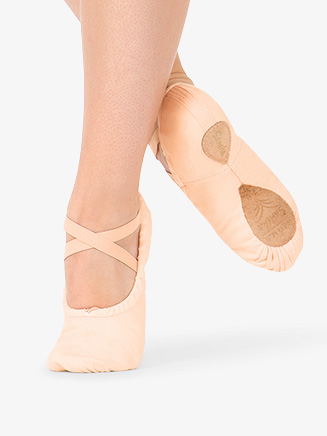 """#1Pro"" Unisex Adult Split-Sole Canvas Ballet Slipper - Style No S1C"
