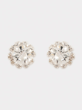 12mm Starburst Rhinestone Earrings - Style No SBRE