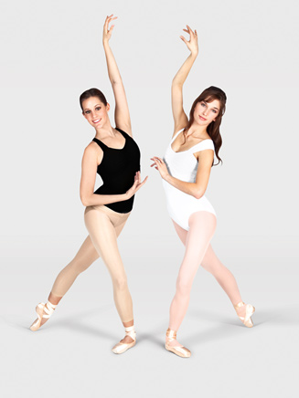 So Danca Shirred Front Tank Leotard With X-Back