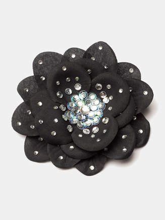 Rhinestone Silk Flower Hair Clips - Style No SF