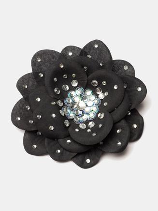 Rhinestone Silk Flower Hair Clip - Style No SF