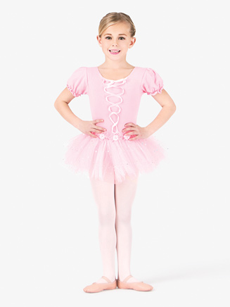 All About Dance Child Peasant Sleeve Dress With Ribbon