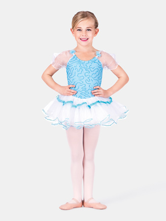 Child Aqua Dancer Dress - Style No SK587