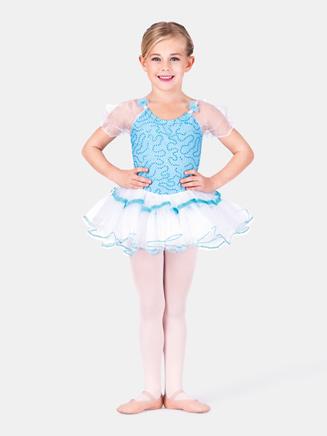 All About Dance Child Aqua Dancer Dress