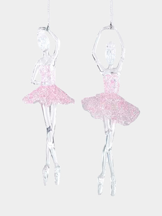 Ballerina Ornament, Pink Accents - Style No T1058