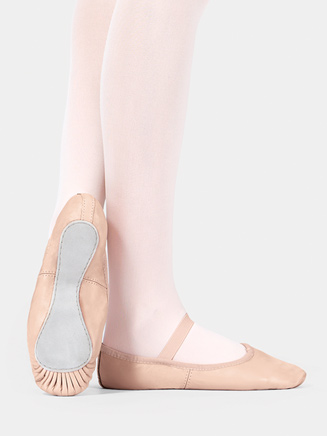 Professional Child Full Sole Ballet Slipper - Style No T2000C