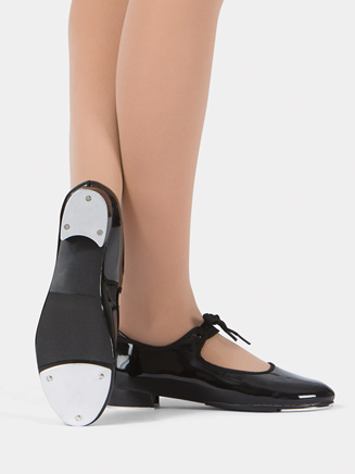 Adult Beginner Tap Shoe with Ribbon Tie - Style No T9000